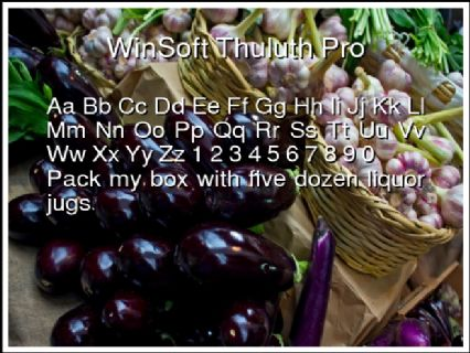WinSoft Thuluth Pro Font Preview