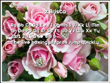 z Arista Font Preview