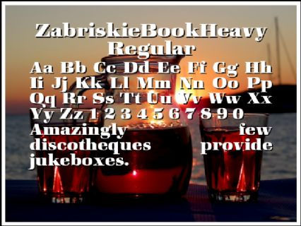 ZabriskieBookHeavy Regular Font Preview