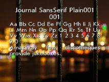 Journal SansSerif Plain001 001 font