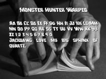 Monster Hunter Warped font
