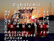 Subatomic Screen font